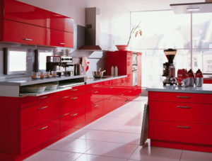 Errebi red kitchen